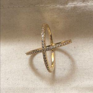 Baublebar Crystal Mason Ring Cross Ring